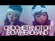 DIY: Crochet Knot or Bow Headband. Keep your ears warm with this cute knot or bow headband ; Crochet Bows, Crochet Headband Pattern, Crochet Cap, Diy Crochet, Crochet Clothes, Crochet Headbands, Tutorial Crochet, Diy Tutorial, Bandanas