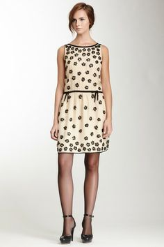 RED Valentino Sleeveless Silk Embellished Dress by Non Specific on @HauteLook