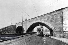 1845 - Clontarf Railway Bridge, Dublin. A fine stone double-arched bridge under the railway embankment. O Reilly, Irish Culture, Dublin City, Brooklyn Bridge, Old Photos, Ireland, Old Pictures, Old Photographs, Irish
