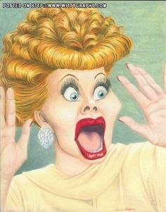 Caricature: Lucille Ball by Don Pinsent Cartoon Faces, Funny Faces, Cartoon Art, Cartoon Ideas, Funny Caricatures, Celebrity Caricatures, Celebrity Drawings, Lucille Ball, Caricature Drawing