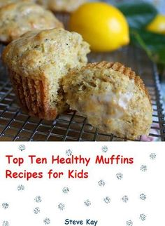 Jane's Sweets & Baking Journal: Whole-wheat Lemon Poppy-Seed Muffins with Tangy Glaze . I have a serious addiction to anything lemon Healthy Muffin Recipes, Healthy Muffins, Healthy Meals For Kids, Healthy Treats, Healthy Desserts, Kids Meals, Healthy Food, Eating Healthy, Family Meals