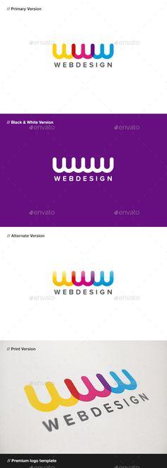 Web  Letter W - Logo Design Template Vector #logotype Download it here: http://graphicriver.net/item/web-design-letter-w-logo/537767?s_rank=39?ref=nexion