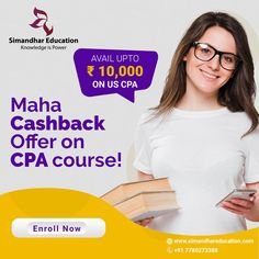 Only 2 days left for the most exciting offer! Hurry Up & Grab it! Maha Cashback Offer on US CPA course Upto ₹10,000. After the completion of the CPA course, the job aspirants can easily find employment because of their wide acceptability in the organizations. 'Now or Never' - Grab this offer & become an International Certified Professional. New batch for CPA will start from 10th April. Get registered for the US CPA course on or before 15th March. #simandhareducation #uscpa #cpacourse #cpa Cpa Course, Cpa Review, Cpa Exam, Financial Accounting, Content Area, Financial Statement, Career Opportunities, Knowledge Is Power, Organizations