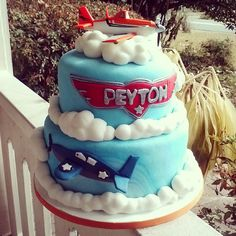 Planes cake just picked up. :) #cake #disney #planes #fondant #chocolate