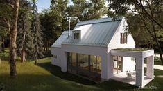 Les maisons métisses Adornetto Farmhouse Architecture, Modern Farmhouse Exterior, Lac Champlain, Cabin Homes, Eco Homes, She Sheds, Modern Barn, My Dream Home, Dream Homes