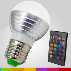 RGB LED Lamp AC85-265V 3W E27 E14 GU10 Led 16 Color Bulb Changeable Lamp multiple colour with Remote Control Led Lighting  Price: 5.17 USD