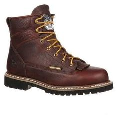 2965a96454679 Men s Georgia Boot GBOT053 Lace-To-Toe Steel Toe Waterproof Work Boot