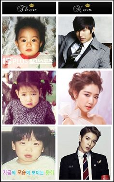 Then and Now - Lee Min Ho, Park Shin Hye and Jung Yonghwa..... yup I'm convinced Yonghwa and I would have beautiful children!♥♥♥