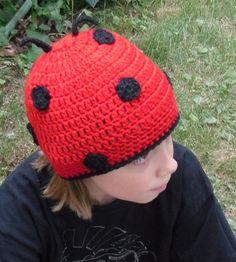 Crochet Ladybug Beanie