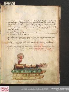Merkel Hs 2° 241  Schembartbuch [o.O.]: 1551/1600 Illustration: Hölle: Kanone