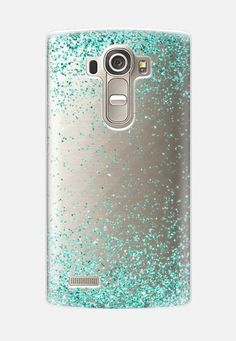 Turquoise Sparkly Glitter Burst LG G4 case by Organic Saturation | Casetify