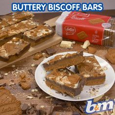 We can't wait to try these buttery Biscoff Cookies bars! Tray Bake Recipes, Baking Recipes, Cake Recipes, Dessert Recipes, No Bake Treats, No Bake Desserts, Delicious Desserts, Yummy Food, Biscoff Cookie Butter