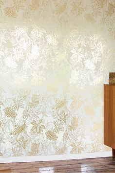 Hothouse Wallpaper - Cream and Gold | Monument Interiors