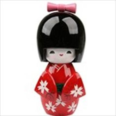 Cute Pretty Girl Japanese Style Wooden Figure Doll Display Toy Gift - Red Doll Display, Japanese Style, Pretty Girls, Home Accessories, Dolls, Christmas Ornaments, Holiday Decor, Cute, Red