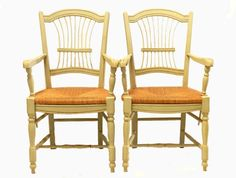 Charming Pair of French Open Armchairs Fauteuil Wheatsheaf 2nd matching pair available