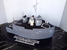 Navy Ship Cake - by Mari's Boutique Cakes