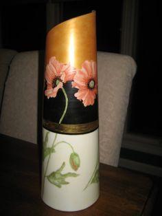 China painted poppy vase by PorcelainChinaArt on Etsy, $39.95