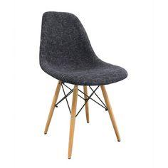eModern Decor Mid Century Modern Woven Fabric Upholstered Side Chair & Reviews   Wayfair