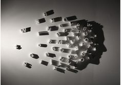 """""""Profile"""" by NYC artist Kumi Yamashita made from wood, a single single light source and the resulting shadow."""