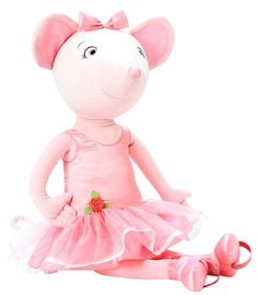 """Alexander Dolls Dance with Me, 36"""" Angelina Ballerina Cloth Doll Introducing Angelina Ballerina - Angelina Ballerina loves to dance. Star of the CGI series based on the popular children's books by author Katharine Holabird and illustrator Helen Craig, this remarkable mouse makes her debut in our new collection of dolls and accessories. This Angelina doll is 36"""" tall. It includes elastic straps so you may hook her to your feet and literally dance with her."""
