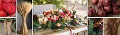 Celebrate your fall wedding using autumnal hues. Showcase deep reds and bright oranges accented with gold and a variety of neutrals. Incorporate wheat and so...