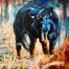 «Inner Dialogue» - The Convergence of Two Realms | John & Elli Milan Christian Hook, Wind Of Change, Painted Pony, Horse Art, Art Inspo, Abstract Art, Horses, Adventure, Wall Art