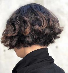 Amelie inspired Bob on curly hair! How To Curl Short Hair, Short Curly Hair, Short Hair Cuts, Curly Hair Styles, Amelie Haircut, Bob Haircut Curly, Hair Evolution, Hair Magazine, Cut Her Hair