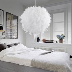 Buy best Feather Ball Lamp Droplight white #1 sale online store at wholesale price. EU/US/CN warehouse.