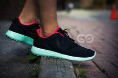 Neon Roshes  @ foot locker.