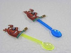 Colher Decorada  Scooby Doo 24 unidades para montar  www.petilola.com.br