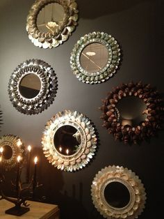 chic shell mirrors                                                                                                                                                                                 More