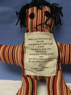 Dammit Doll by GandysDandys on Etsy, $10.00