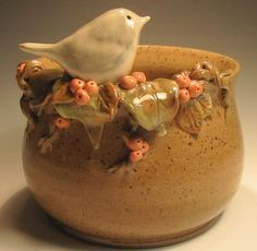 Pottery Bowl Maddy by claynestpottery on Etsy.