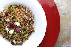 his easy mushroom and brussels sprouts quinoa recipe is one of a kind, and easy to pull off!