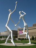 """John Grant for City of Denver Public Art Program; Artist and Artwork: Jonathan Borofsky """"Dancers"""" (2003)"""
