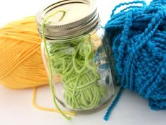 Upcycled yarn dispenser! Click for more storage ideas