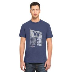 Men's Chicago Cubs '47 Royal 2016 World Series Champions Scrum T-Shirt