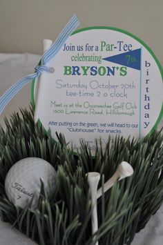Koehler Family: the details on the golf party!