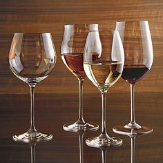 Classic wine shape is crafted with pulled stem and fire-polished rim. Machine-made using the latest technology to resemble the quality of handblown stemware at an everyday price.