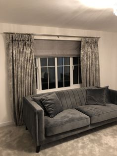 made to measure curtains made for our clients beautiful homes for more info email amanda@amandabakersofturnishings.co.uk Pelmets, Made To Measure Curtains, Roman Blinds, Soft Furnishings, Beautiful Homes, Amanda, Cushions, Couch, Furniture