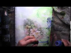 Marta▶ Paper Napkin + Journaling in Colour Tutorial #6 What if...? for Lindy's Stampg Gang - YouTube