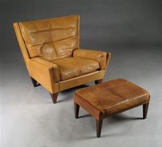 Illum Wikkelso's vintage King Chair and Stool