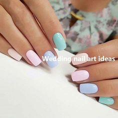 Looking for easy nail art ideas for short nails? Look no further here are are quick and easy nail art ideas for short nails. Chic Nail Art, Chic Nails, Stylish Nails, Trendy Nails, Classy Nails, Solid Color Nails, Nail Colors, Candy Colors, One Color Nails