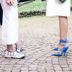 dior trainers and prada sandals - street style - fall winter trends fashion