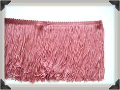50 cm de franges type charleston couleur vieux rose : Autres Home Déco par takeabreath