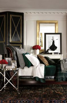 Ralph Lauren Home's classic Duke bedding is masculine in  plaid, and modern in its crisp, chic presentation