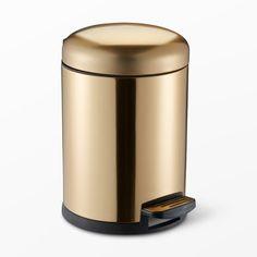 Guldfärgad pedalhink, 5l, guld