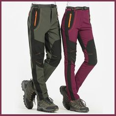 Buy Men/Women Breathable Thermal Waterproof Pants Men Outdoor Sport Camping Hiking Pants Fleece Outdoor Pants at Wish - Shopping Made Fun Sports Trousers, Sport Pants, Best Hiking Pants, Womens Hiking Pants, Waterproof Pants, Outdoor Pants, Outdoor Outfit, Plus Size Men, Winter Hiking
