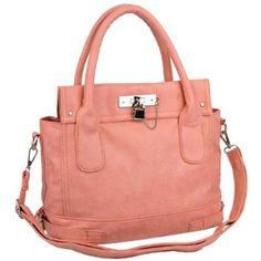 Pink Chic Office Tote Soft Leatherette Embossed Ostrich Double Handle Satchel Handbag Shoulder Bag w/Detachable Strap
