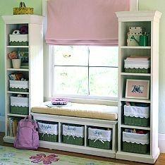 Window seat storage